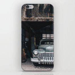 Old vintage car truck abandoned in the desert iPhone Skin