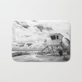 Lifeguard tower in Kauai, Hawaii Bath Mat