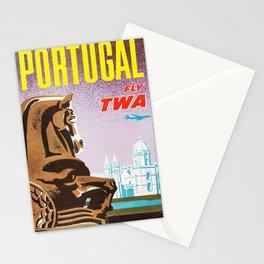 retro Portugal retro poster Stationery Cards