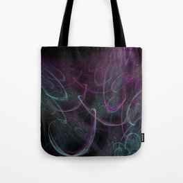 Christmas blizzard. Abstract Tote Bag