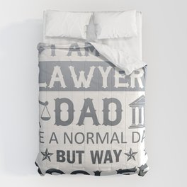 I Am A Lawyer Dad Comforters