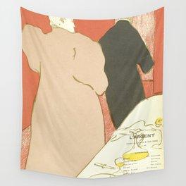 """Henri de Toulouse-Lautrec """"Theatre programme for L'argent by Emile Fabre"""" Wall Tapestry"""