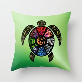 Bagua Turtle Throw Pillow