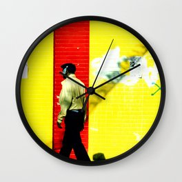 Walking in the Red Zone Wall Clock