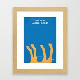 No230 My Animal House minimal movie poster Framed Art Print