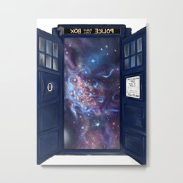 Space from the Tardis Metal Print