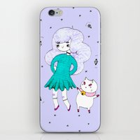 puppycat iPhone & iPod Skins featuring Bee and Puppycat  by Alxndra Cook