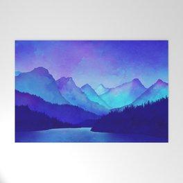 Cerulean Blue Mountains Welcome Mat