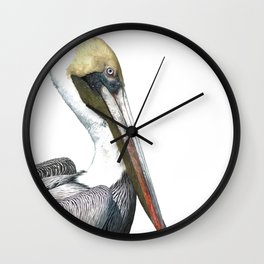 Pelican Portrait Wall Clock
