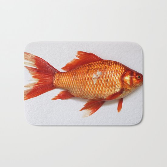 Red Gold Fish Bath Mat