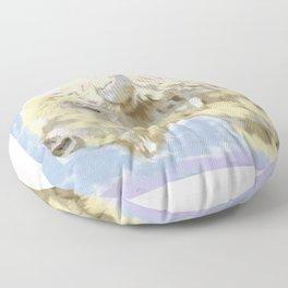 White buffalo calf Floor Pillow