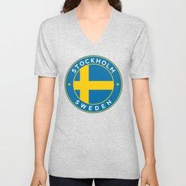 Sweden, Stockholm, circle Unisex V-Neck