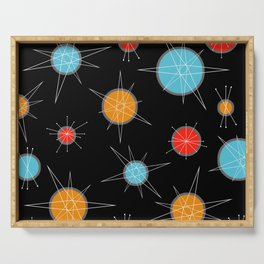 Atomic Age Colorful Planets Dark Serving Tray