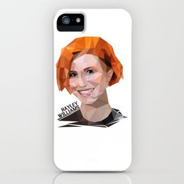 Low Poly Design Hayley Williams iPhone Case