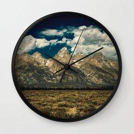 Mountain Summer Escape Wall Clock