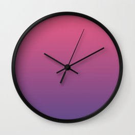 Bright Pink Ultra Violet Gradient | Pantone Color of the year 2018 Wall Clock