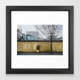 Yellow Stride Framed Art Print