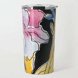 Iris Floral Travel Mug