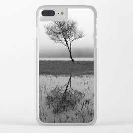 Three trees Clear iPhone Case