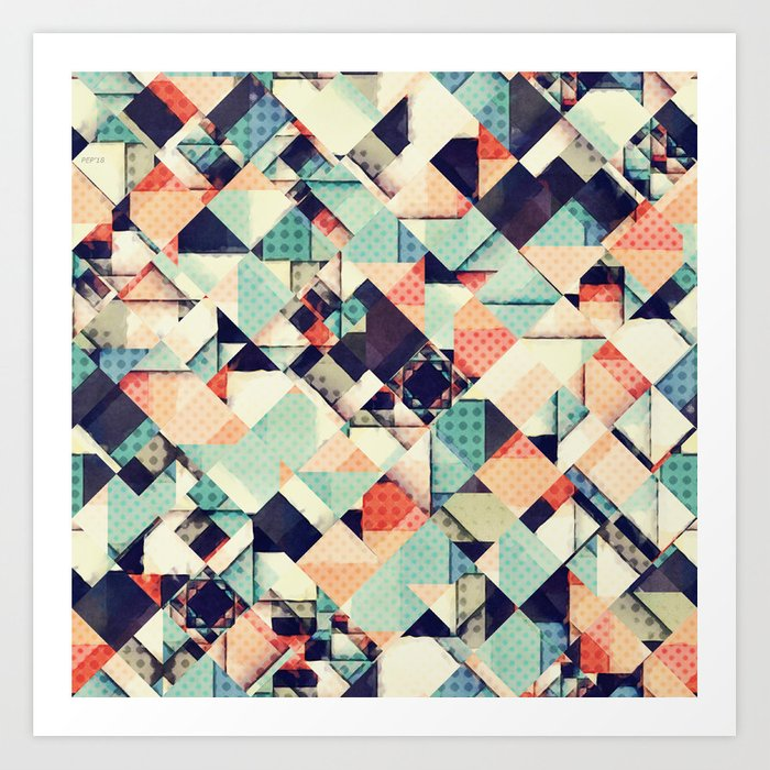 Jumble of Colors And Texture Art Print