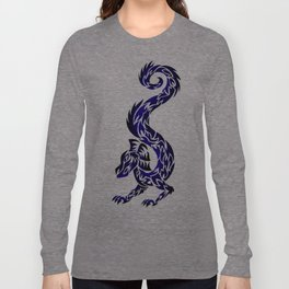 Blue Twisted Dragon Long Sleeve T-shirt