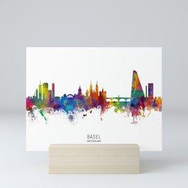 Basel Switzerland Skyline Mini Art Print