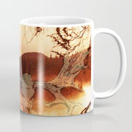 Atmospheric Black Metal SpiriT of the NortH Moose SkuLL and Lake Coffee Mug