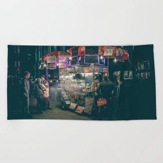 New york city Food Beach Towel