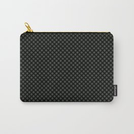 Black and Duffel Bag Polka Dots Carry-All Pouch