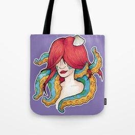 The mermaid and the octopus Tote Bag