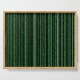 Green Matrix Serving Tray