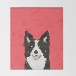 Montana - Border Collie gifts for dog people and dog lovers perfect gifts for a dog person.  Throw Blanket