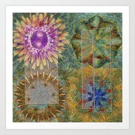 Rethank Weave Flower  ID:16165-002645-43931 Art Print
