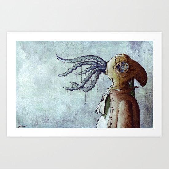 The Octopus Man Art Print