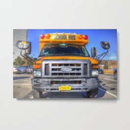 American School Bus Metal Print