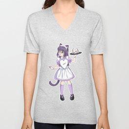 Maid Kitty Unisex V-Neck