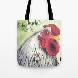 Silver Laced Wyandotte Rooster Tote Bag