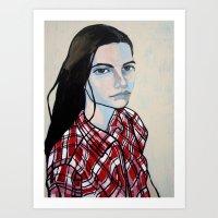 Markina in Plaid Art Print
