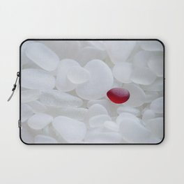 Drop of Red - Japanese Red Sea Glass Laptop Sleeve