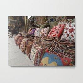 Pillows at an Istanbul Bazaar Metal Print