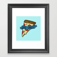 Life is a Pizza Party Framed Art Print