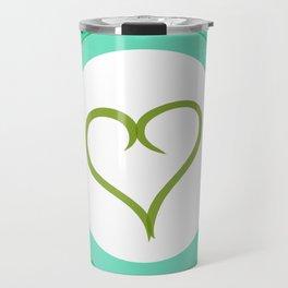 Green Heart with Love Travel Mug