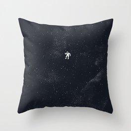 Gravity - Dark Blue Throw Pillow