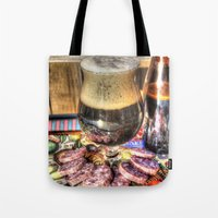 beer Tote Bags featuring Beer by Kent Moody