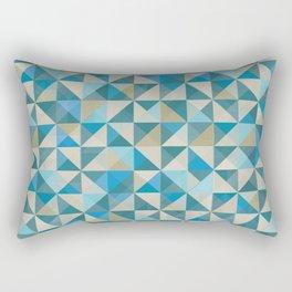 Blue Patchwork Quilt Rectangular Pillow