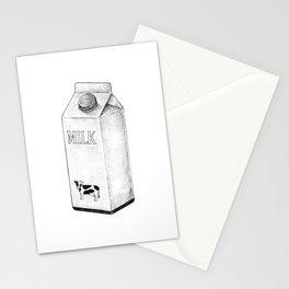 Milk Carton Sketch Stationery Cards