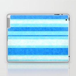 Bright Blue Grunge Stripes Texture Laptop & iPad Skin