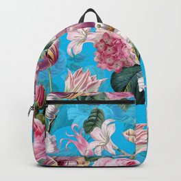 Vintage & Shabby Chic - Pastel Roses and Blush Orchid Flower Meadow Backpack