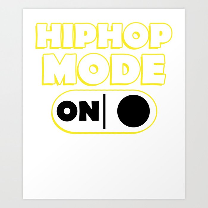 hiphop music song sound gift pop note country Art Print by alsterdesignumzu