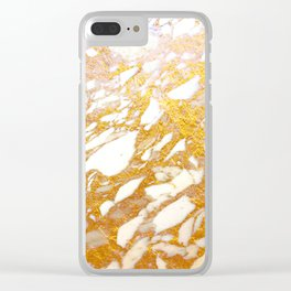 Marble Gold Clear iPhone Case